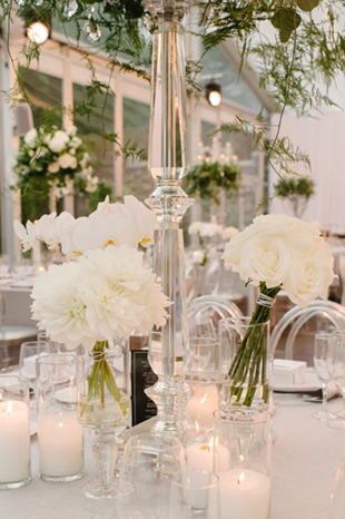 White peonies at the elegant Casa Loma wedding reception