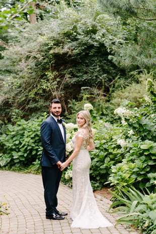 A bride and groom portrait at Casa Loma wedding