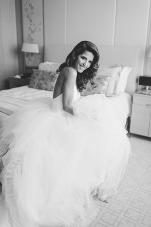 Smile! be a bride! I love seeing how happy my brides are in the morning of their wedding.