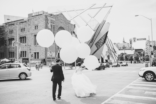 Stopping traffic in front of ROM Toronto to take some wedding pictures is everything