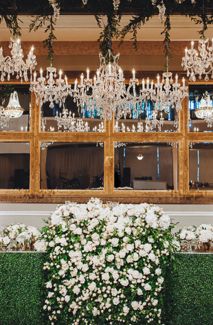 Floral arrangement head table wedding inspiration