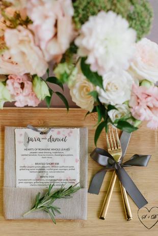 Copper cutlery wedding inspiration