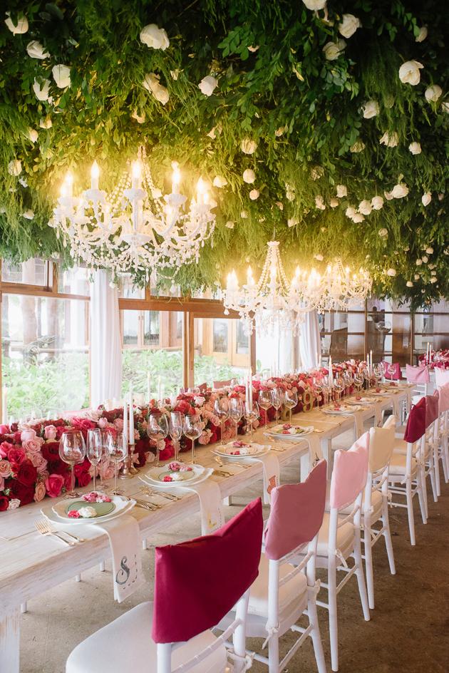 Hanging garden wedding decor ideas by Mango Studios