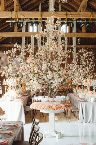 Real life cherry blossom wedding decor is magic!