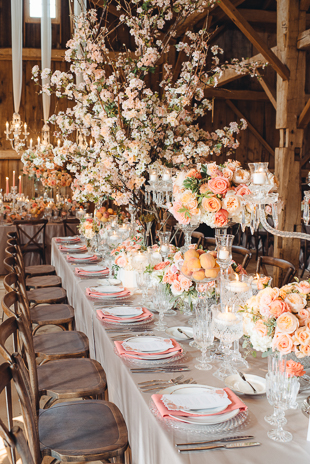 Gorgeous Real Peaches Infused Barn Wedding Peach Decor And Colour Scheme At This Beautiful
