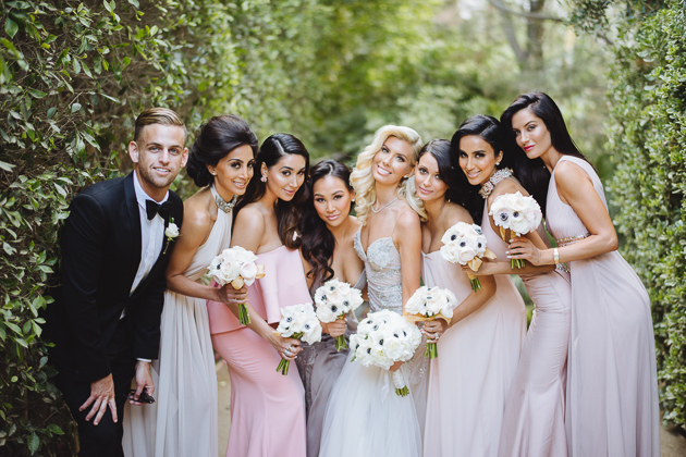 A-List bridal party featuring Dorothy wang and Lilly Ghalichi