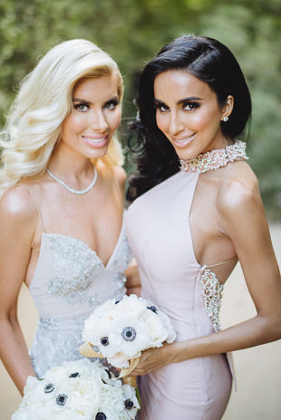 Lilly Ghalichi of Shahs of Sunset was a bridesmaid at Jennifer and David wedding at Palm Springs