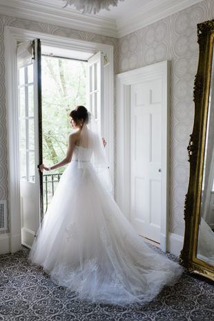 Ethereal bridal portrait at Graygon Hall Manor bridal suit