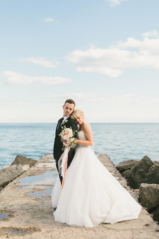 I love taking wedding portraits by the lake.