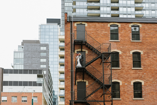 King West is full of pretty secret nooks to take wedding photos