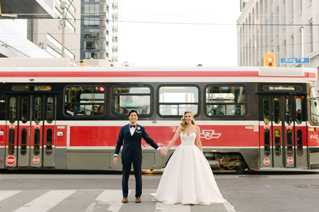 Streets of Toronto are full of photogenic spots to take wedding photos