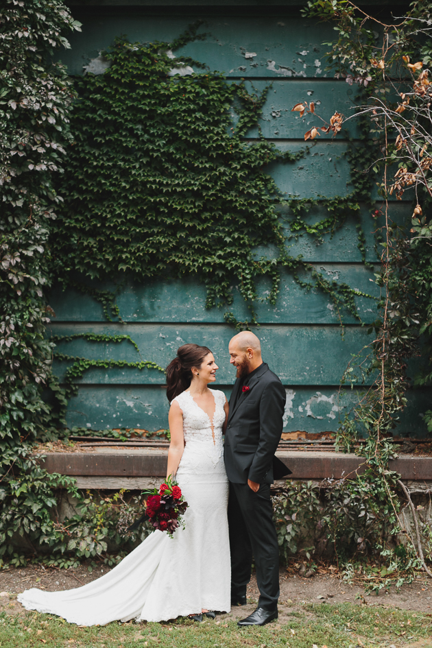 Distillery District wedding photos can be so pretty and unique