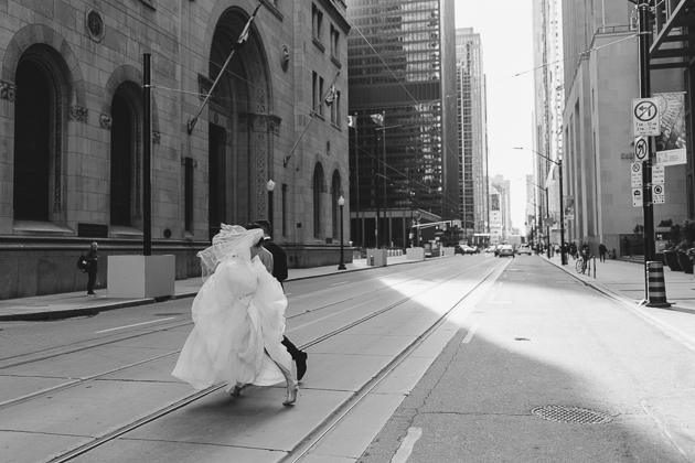 Stopping traffic on the wedding day