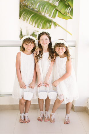 Pretty flower girls at Royalton Punta Cana Wedding