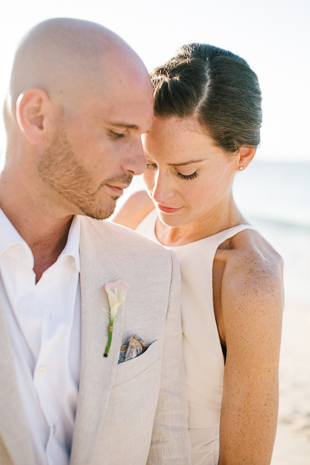 Sunset beach wedding inspiration