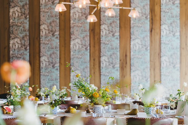 field flowers added relaxed feel for this garden inspired bridal shower