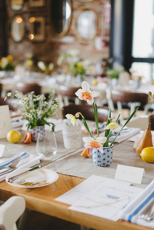 theme mistmatched vases and cutlery looked perfect at this garden bridal shower