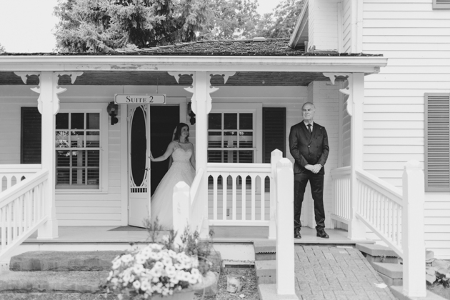 A bride reveal to her dad is one of the most emotional parts of the day