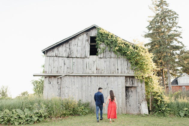 Red dress ideas for an engagement session
