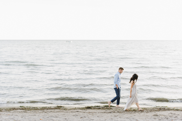 Scarborough Bluffs engagement photos are always filled with air and light