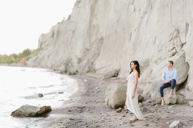 Love this Scarborough Bluffs engagement session!