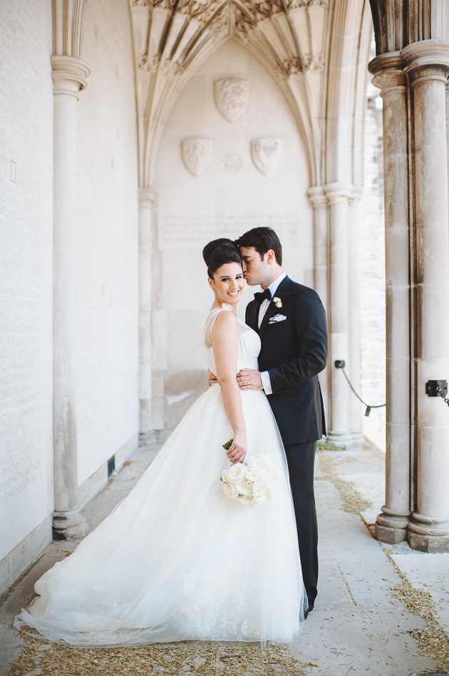Memorial Hall is one of the best University of Toronto wedding photography spots