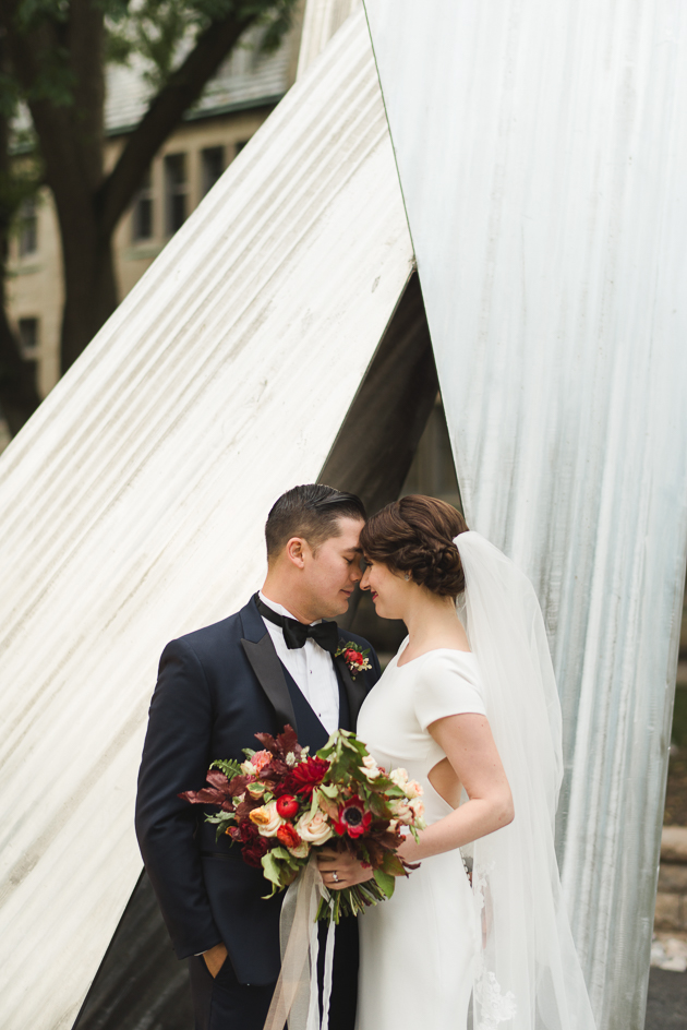 St. Michael's College is one of the best University of Toronto wedding photography spots