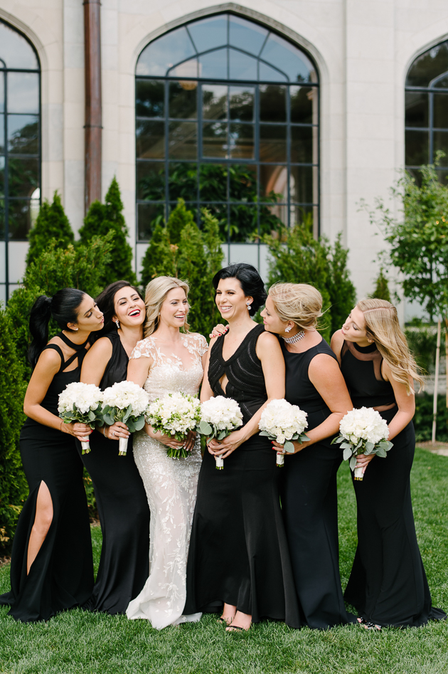 Black maxie bridesmaids dresses