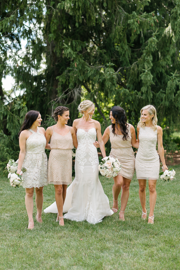 knee-length, summer bridesmaid dresses