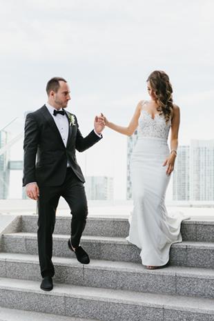 Wedding photos at Thompson Hotel