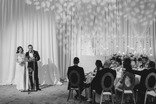 wedding reception at Chateau Le Parc