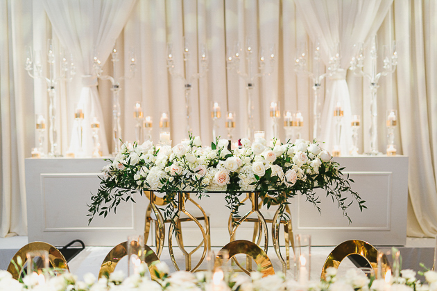 White and gold Chateau Le Parc wedding