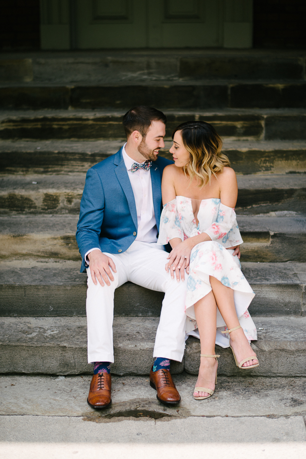 Engagement photos at Osgoode Hall in Toronto
