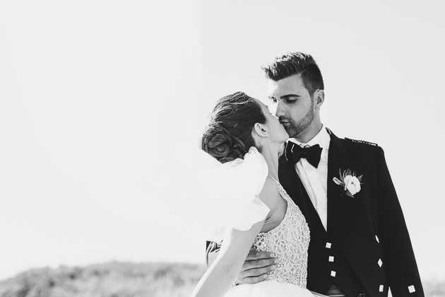 First Kiss at the Eagles Nest wedding