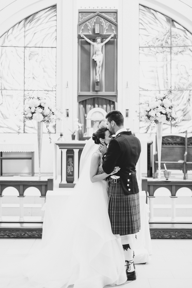 Wedding ceremony at St. Mary Immaculate Church
