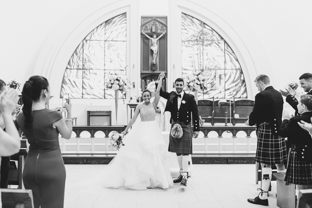 Wedding ceremony at St. Mary Immaculate Church in Toronto