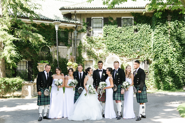 That's what you call a wedding party! Shot at Glendon College