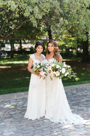 A bride and her Maid of Honour at Osgoode Hall
