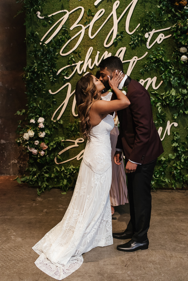 You may kiss the bride! Fermenting Cellar wedding in Distillery District