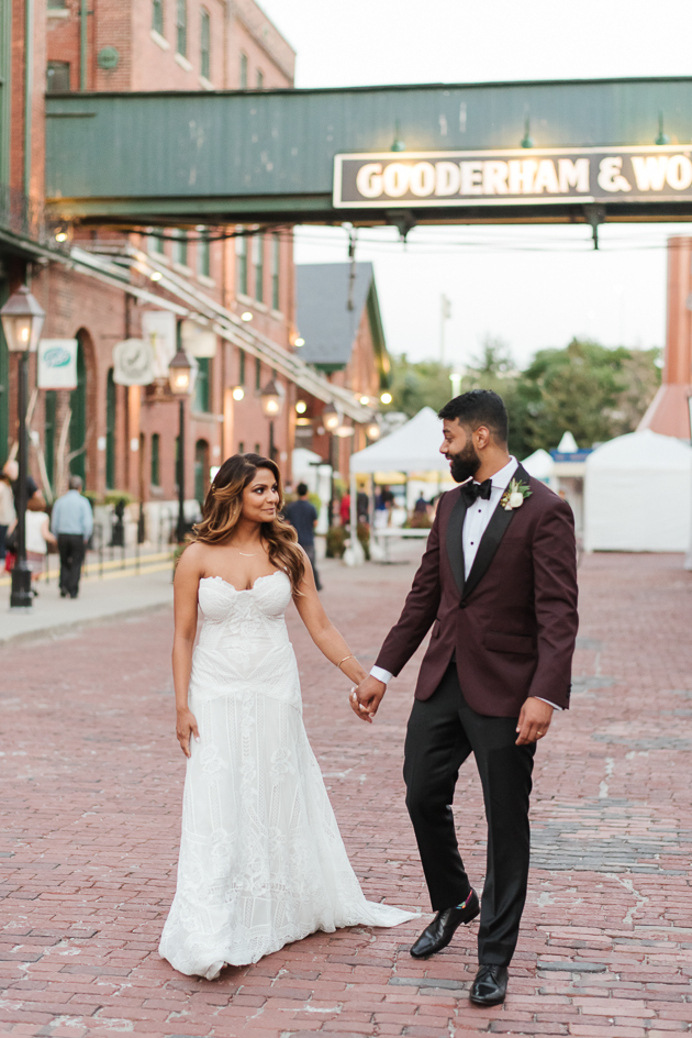 Sirini and Nesakan looking chic while strolling Distillery District