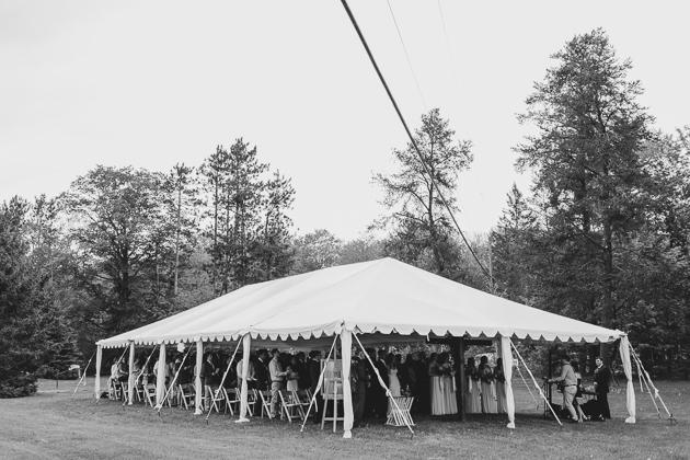 A Muskoka wedding under a tent