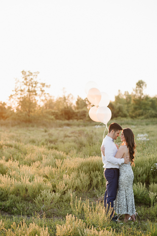 Romantic engagement photo ideas on a farm
