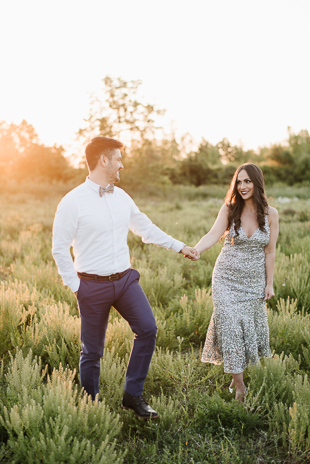 Romantic engagement photos - farm engagement session