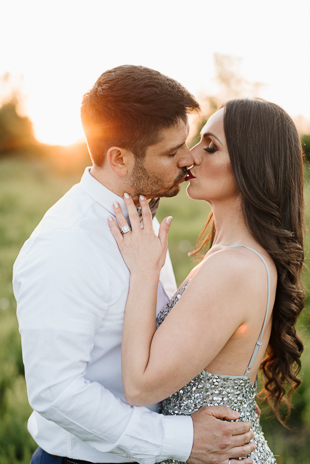 Sunset engagement photos in Toronto