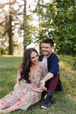 All smiles at the farm engagement session!