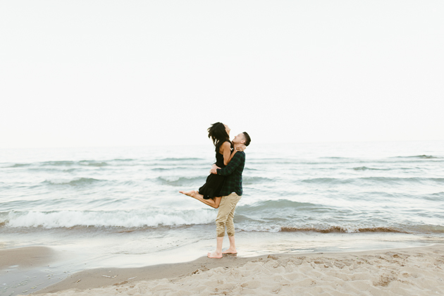 beach engagement session in Toronto