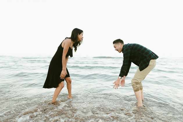 cute beach engagement session in Toronto