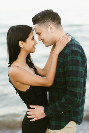 fun beach engagement session in Toronto