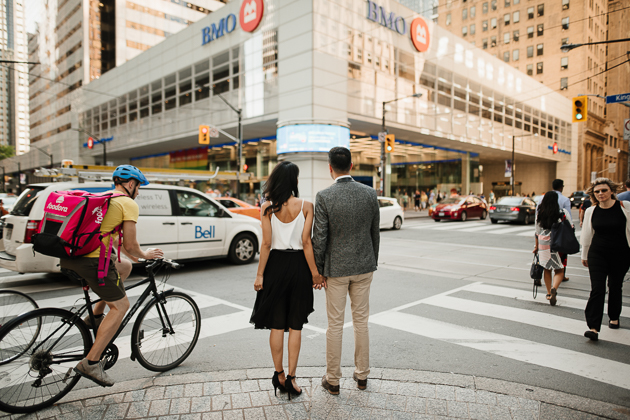 cool downtown engagement session in Toronto photos