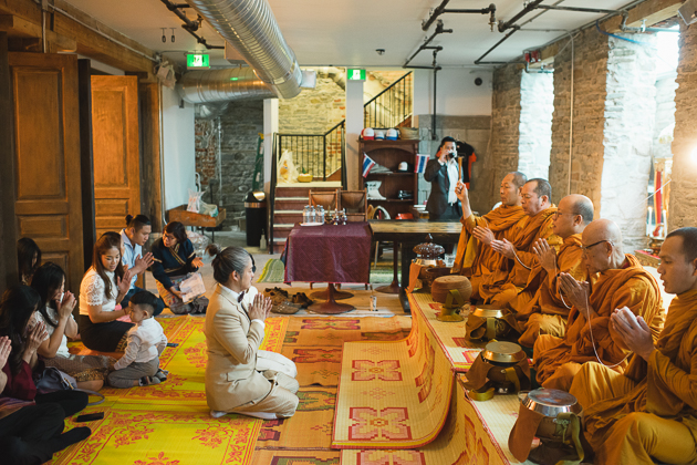 Modern Buddhist wedding ceremony at PAI in Toronto